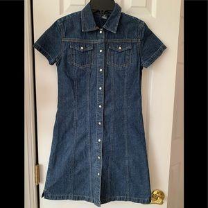 Gap Girls Button Down Jean Dress Size 10 (D30)